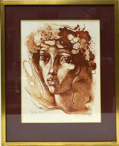 OUDOT Georges (Chaumont, 1928 - Besançon, 2004). Tête de Tahitienne