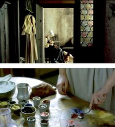 love this simple stained glass from the set of 'the girl with a pearl earring'.