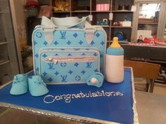 Mucking Afazing LV Baby shower cakes by Charly's Bakery Cape Town, South Africa!