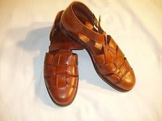 Cole Haan Country men's 8 M sandals side strap  leather saddle tan pre-owned
