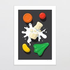 Spilt Milk   Glenn Jones Art Milk Art, Fine Art Prints, Framed Prints, Kiwiana, Epson, Colorful Decor, Create, Artwork, Projects