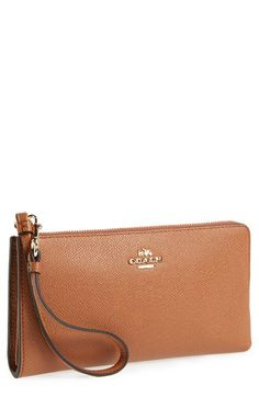 245ae0da3a Free shipping and returns on COACH  Zippy  Leather Wallet at Nordstrom.com.