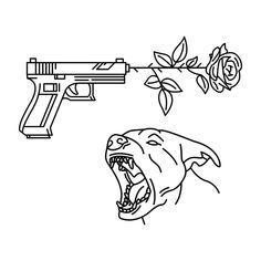 Mini Tattoos, Black Tattoos, New Tattoos, Tattoo Sketches, Tattoo Drawings, Snake And Flowers Tattoo, Snake Tattoo, Ak47 Tattoo, Drawings Pinterest