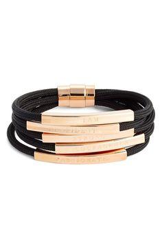 Inspiration gold bracelet bands / @nordstrom strom