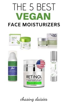 The absolute best vegan moisturizers for vegan skincare products! If you're looking for a great vegan moisturizer, all 5 of these have very different properties (including green tea, retinol, and SPF) but are all vegan moisturizers (and are all cruelty-fr Homemade Skin Care, Diy Skin Care, Homemade Facials, Organic Skin Care, Natural Skin Care, Natural Beauty, Moisturizer For Oily Skin, Image Skincare, Drugstore Skincare