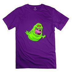 StaBe Men Ghostbusters Slimer Logo T-Shirt Pre-cotton Geek L Purple @ niftywarehouse.com #NiftyWarehouse #Geek #Gifts #Collectibles #Entertainment #Merch