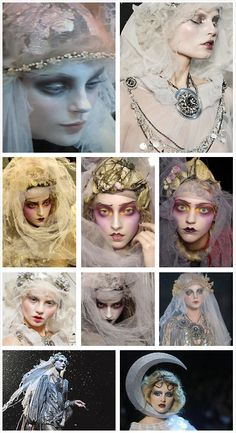 John Galliano fashion + Pat Mcgrath makeup design ✨✂️BullDoll HairStyles✂️ ✨ ✨Make Up insPiraTioN✨ Fashion Editorial Makeup, Fashion Show Makeup, Catwalk Makeup, Runway Makeup, Makeup Art, Beauty Makeup, Hair Makeup, Makeup Ideas, Ghost Makeup