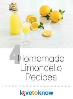 If you enjoy making liquor in your kitchen rather than buying it, mix up one of these homemade limoncello recipes. It's a refreshing drink served plain or used to brighten up other cocktails and desserts. |4 Homemade Limoncello Recipes from #LoveToKnow