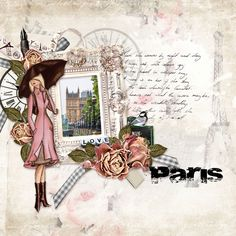 Page by Atusia using travel to Paris by Tiff Scraps