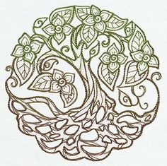 Different Tree of Life.  Really like it.  I think it would look good as a tattoo with the colors fading into each other.  from UrbanThreads