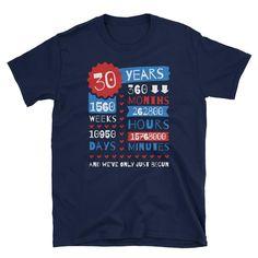 30 Years Pearl Wedding Anniversary Unisex Gift T-Shirt #30thweddinganniversary #weddinganniversaryshirt #30thanniversaryshirt