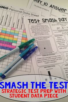 Get your students excited and ready to SMASH the test! TEKS and Common Core aligned, this strategic review is engaging and puts the learning in the students hands with the personal data sheet that makes it easy for students to set goals, and teachers to see who needs extra help!