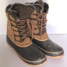 545dc0f5150 Women s Artic Plunge Rhonda Faux Fur Trim Cuff Boot Brown Size 10 M   ArticPlunge