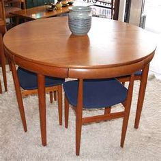 """danish modern"" I love the clean lines of this efficient set! -cld"