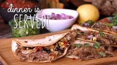 Easy Pulled Pork Quesadillas that are customized and finished cooking all at the same time. Pulled Pork Quesadilla, Easy Pulled Pork, How To Cook Pork, Quesadillas, Cooking Tips, Hacks, Beef, Dinner, Ethnic Recipes