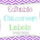 This is a set of EDITABLE labels for your classroom.  You can use them for book bins, supply bins, paint stick labels, etc.  The possibilities are ...