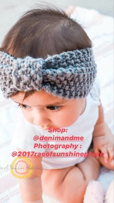 Crochet baby headbands Baby Outfits Newborn, Baby Girl Newborn, Baby Boy, Baby Shower Themes, Baby Shower Gifts, Baby Girl Gift Sets, Handmade Baby Clothes, Girls Coming Home Outfit, Baby Headbands