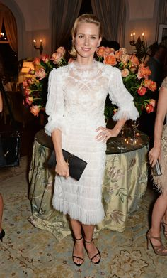 Naomi Watts in Marchesa at the Charles Finch Filmmakers Dinner.