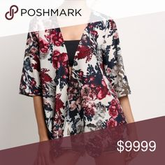 Floral Cardigan style Kimono Material: thin light weight Cotton, Polyester  Style: Blouse ,Sleeve Style: Kimono Sleeve  Pattern: Floral Color: as the picture shows US M(8-10) L (12) S (4-6)   🛍BUNDLE & SAVE 15%🛍 ✨TOP RATED SELLER✨ 📦SAME DAY OR NEXT DAY SHIPPING!📦 ❤REASONABLE OFFERS WELCOME❤ ❌NO TRADES OR PAYPAL❌ Tops
