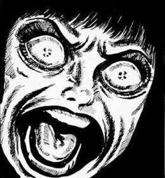 DM-Los maestros del manga de terror Dark Art Illustrations, Dark Art Drawings, Cool Drawings, Manga Gore, Japanese Horror, Grunge Art, Scary Art, Gothic Anime, Dark Anime
