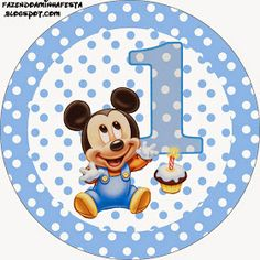 Baby Mickey Birthday Clipart - Clipart Suggest Baby Mickey Mouse, Festa Mickey Baby, Theme Mickey, Mickey E Minie, Fiesta Mickey Mouse, Mickey Mouse 1st Birthday, Mickey Party, First Birthday Cards, Happy Birthday Signs