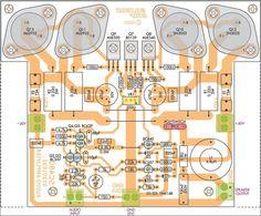 Como funciona o amplificador de áudio com 2n3055 Os transistores do tipo 2n3055 podem ser colocador na saída de um amplificador de áudio com uma potência de 50 Watts devendo ser utilizados em grup…