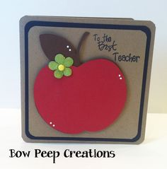 To The Best Teacher- Teacher Appreciation Apple Card-To The Best Teacher- Teacher Appreciation Apple Card