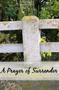 A Prayer of Surrender to Christ.