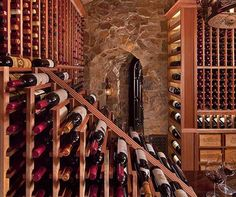 Have you always wanted to know how to build a wine cellar? We can help with everything you need to build your dream wine cellar in any size space. Hanging Wine Rack, Wine Rack Wall, Wine Cellar Racks, Wine Cellars, Sauce Pizza, Wine Rack Storage, Wine Cellar Design, Wine Fridge, Italian Wine