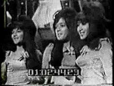 """""""Be My Baby"""" by the Ronettes with Veronica Bennett, Estelle Bennett, and Nedra Talley."""