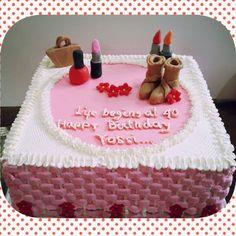birthday cake w/ choco modelling