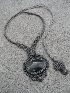 Or l'obsidienne Sheen w / Labradorite et perles par LaQuetzal