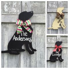 This Hand painted personalized custom dog door hanger for your is just one of the custom, handmade pieces you'll find in our door hangers shops. Wooden Door Hangers, Wooden Doors, Wooden Signs, Animal Cutouts, Door Hanger Template, Dog Crafts, Teen Crafts, Wood Dog, Wood Cutouts