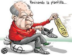 Carlos Romero Deschamps, el intocable.   Cartón de Alarcón en El Financiero. #Pemex #ReformaEnergéticaSí