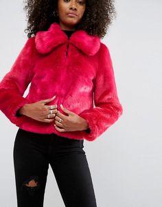 ASOS Faux Fur Cropped Jacket