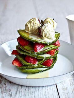 Pancake Recipes: Matcha Pancakes