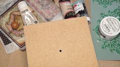 Decoupage σε ξύλινο κουτί και τεχνικη για την όψη σφυρήλατου! Φανταστικό Αποτέλεσμα! - ΒΙΝΤΕΟ!