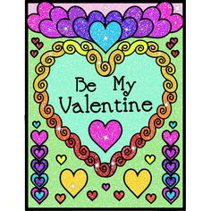 Valentines Day Coloring, Be My Valentine, Notebook, Symbols, Peace, Pictures, Art, Photos, Art Background