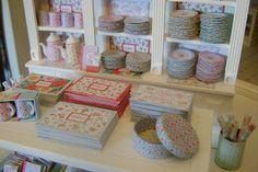 Miniature shop merchandise inspired by Cath Kidston designs