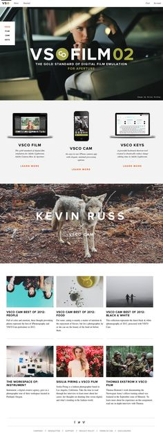 Simple webdesign with large photos and typography #Webdesign #Layout
