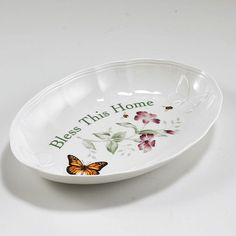 Lenox Butterfly Meadow This Home Tray