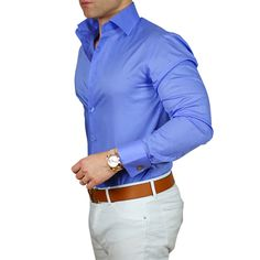 We have expanding our signature high collar double button dress shirts! Now softer than ever and in more colors. Collar always stays up! Stylish Men, Men Casual, Blue Shirt Dress, Dress Shirts, Men Formal, Formal Wear, Mein Style, Fashion Night, Fashion Sale