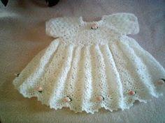 Mary Helen and crochet trico Crafts: bebe crochet dress