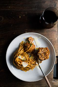 Pepperoni-blended meatball spaghetti
