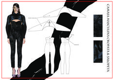 madalina buzas on Behance Fashion Portfolio Layout, Fashion Design Sketchbook, Fashion Sketches, Portfolio Design, Dress Design Sketches, Technical Drawing, Aesthetic Art, Maturity, Submissive
