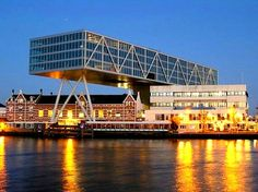 Office Building of Unilever The Bridge Noordereiland Rotterdam Rotterdam Architecture, Space Architecture, Rotterdam Netherlands, Bridge Design, Paradise On Earth, Utrecht, Places Ive Been, Amsterdam, Dutch