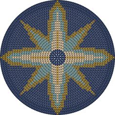 Tapestry Crochet Patterns, Crochet Mandala Pattern, Crochet Chart, Mosaic Patterns, Bead Crochet, Filet Crochet, Beading Patterns, Cross Stitch Embroidery, Cross Stitch Patterns