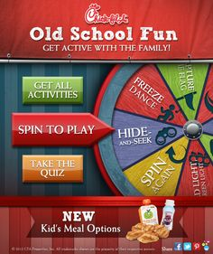 Check out these Old School classic playtime activities to help your family have fun and get active this spring!In celebration of the new Chick-fil-A nutritious Kid's Meal Offerings!