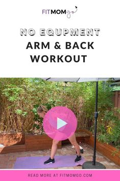 Arm and Back Workout | No Equipment Video #armworkout #backworkout #upperbodyworkout #womensworkout #workoutvideos