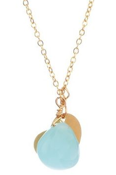 Small side way heart Blue Chalcedony drop in Gold Filled finding. Blue Chalcedony, Pendant Necklace, Flats, My Style, Heart, Gold, Drop, Jewelry, Loafers & Slip Ons